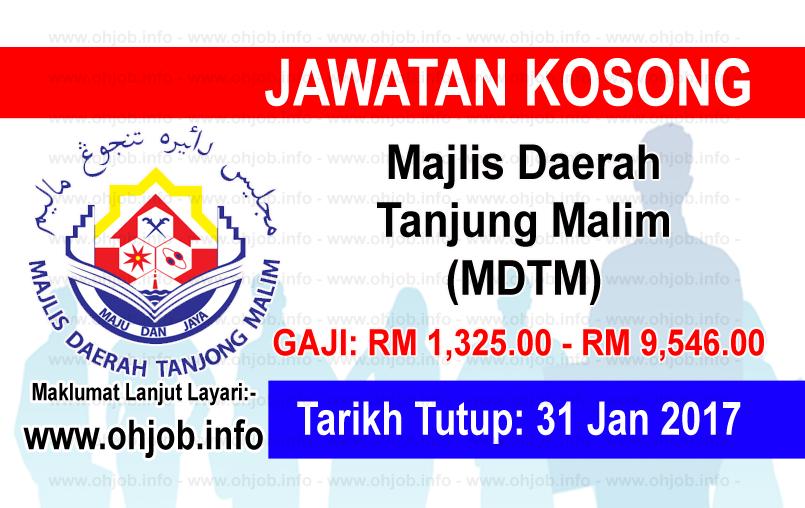 Jawatan Kerja Kosong Majlis Daerah Tanjung Malim (MDTM) logo www.ohjob.info januari 2017