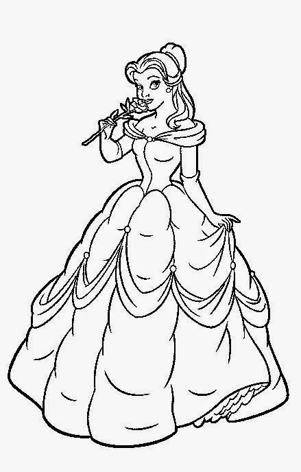 Coloring Pages: Belle coloring pages from Beauty and the