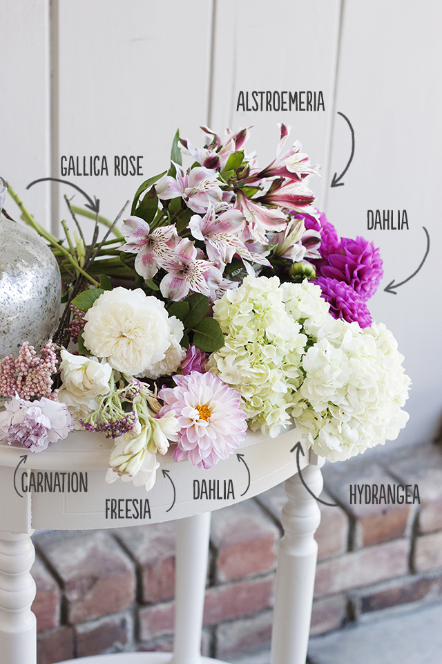 floral arrangement, DIY flower arrangement, Flower centerpiece, tutorial, flowers, blooms, flower recipe