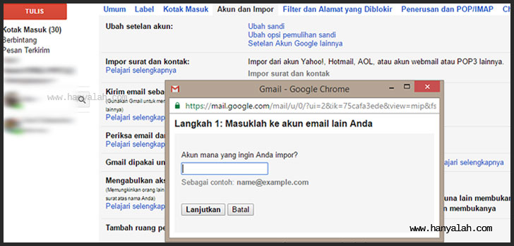 Cara Import daftar kontak dan email google