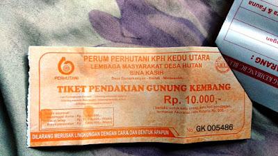 Tiket Pendakian Gunung Kembang Rp 10.000,-