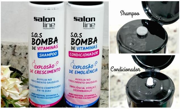 linha S.O.S Bomba de Vitaminas da Salon Line 2