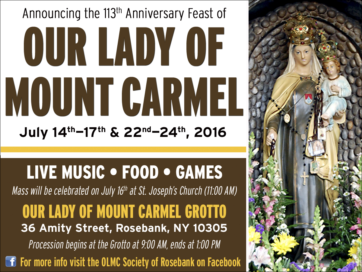 Feast Of Our Lady Of Mount Carmel Quotes: Il Regno: Announcing The 113th Anniversary Feast Of Our