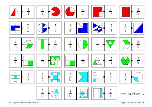 Resultado de imagen para juegos matematicos con fracciones
