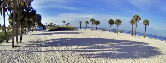Fred Howard Park Beach, Tarpon Springs, Florida USA