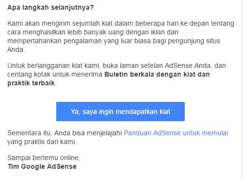 #11 - Pemberitahuan adsense tampil di blog