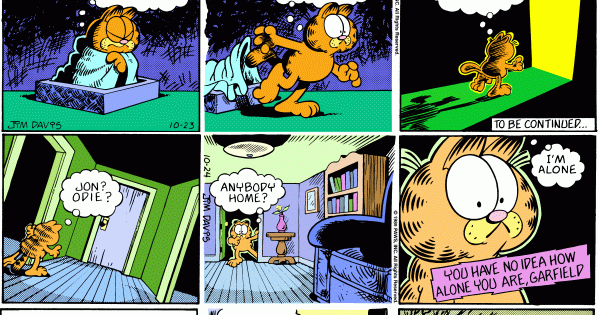 The End Of Summer Garfield Alone