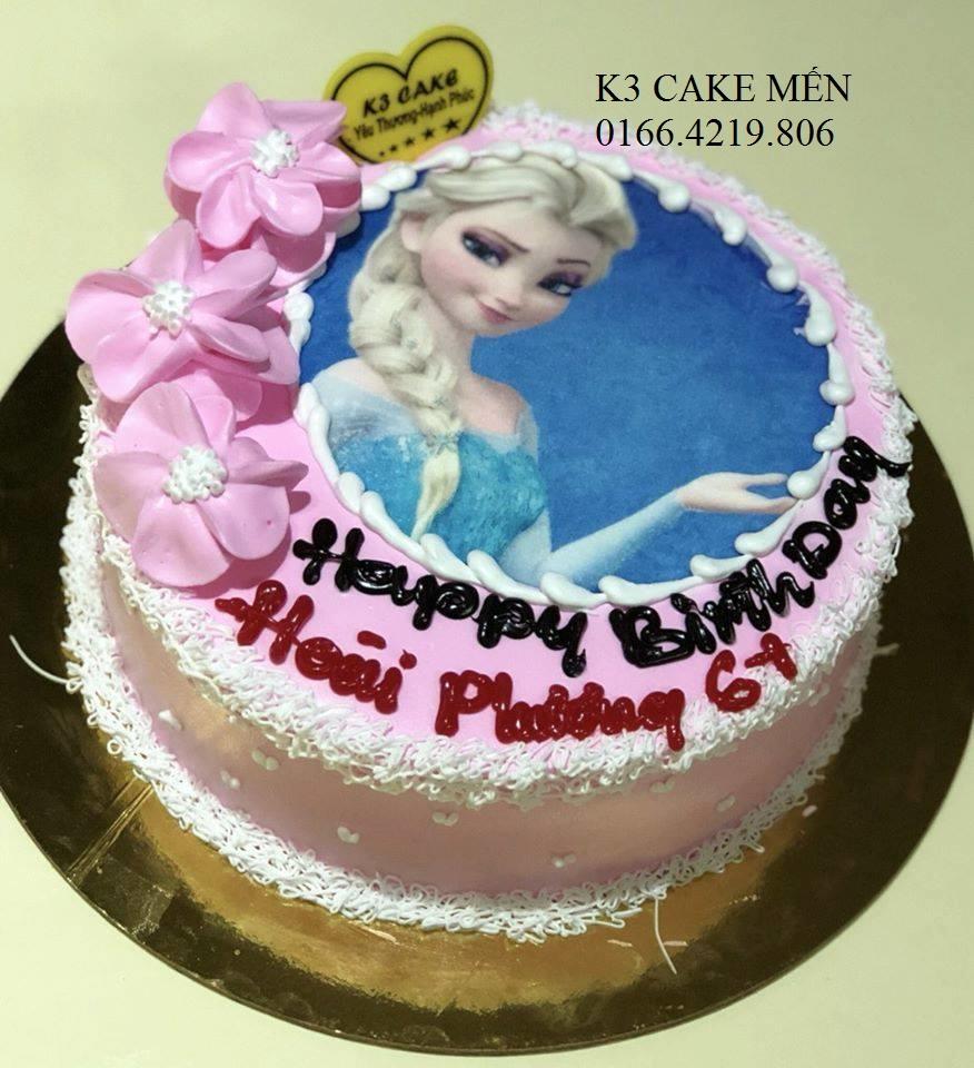Bánh sinh nhật công chúa Elsa cho bé gái