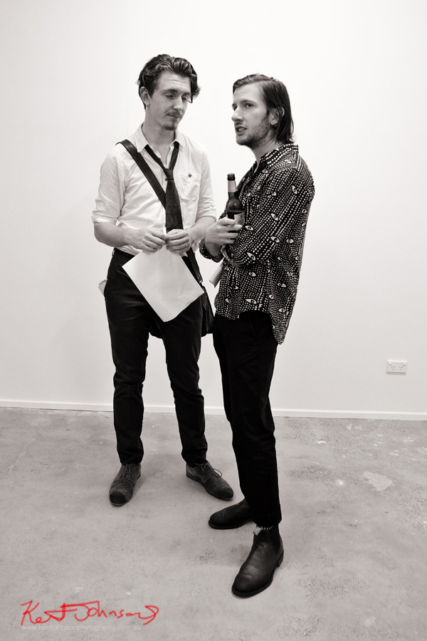 Mens style, Kenzo shirt.. COMA Gallery & Art Opening - Photographed by Kent Johnson for Street Fashion Sydney.