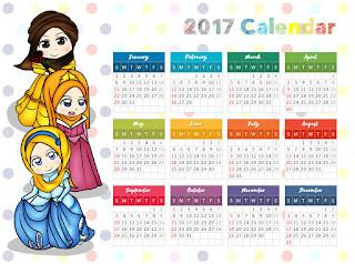 cute muslimah calendar