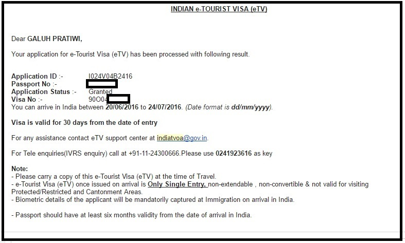 Cara membuat E-Tourist Visa India (sebelumnya Visa on