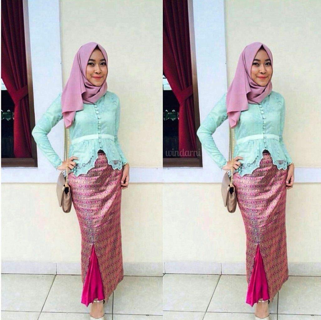 Contoh Gambar Batik Tanpa Warna: Model Baju Kebaya Songket Kekinian Dan Modern