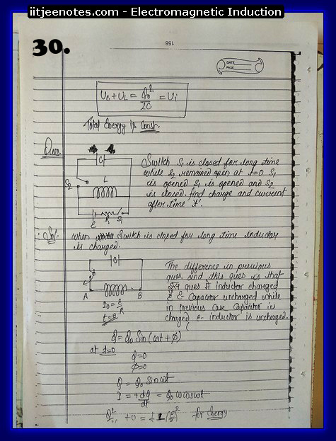 Electromagnetic Induction Notes cbse6