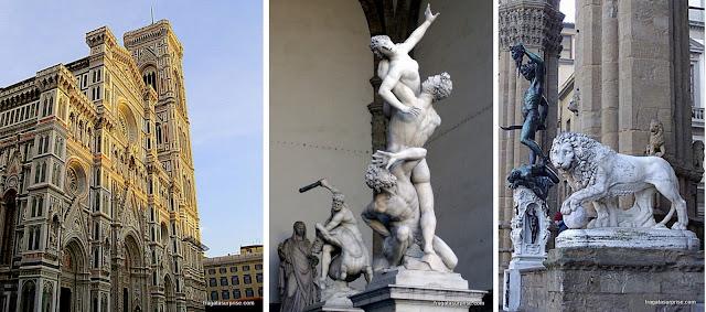 Atrações gratuitas de FlorençaDuomo de Florença e esculturas da Piazza della Signoria