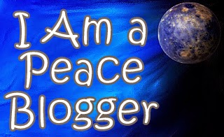 I am a peace blogger, blue peace banner