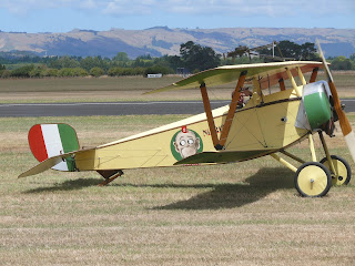 A scale model of the Nieuport 11 in which Ranza scored many of his victories after joining the 91st Squadron