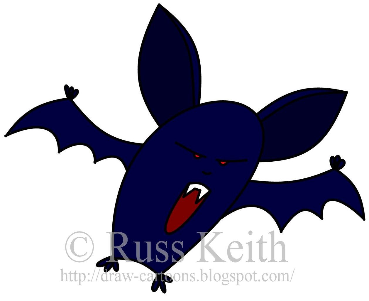 Cute Vampire Bat Drawings