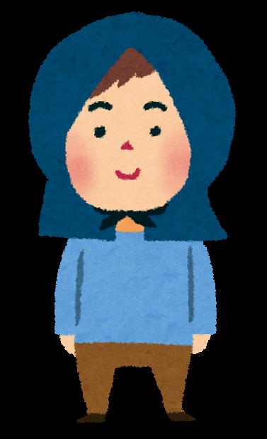 地震のイラスト「防災頭巾の男の子」 | かわいいフリー素材集 いらすとや