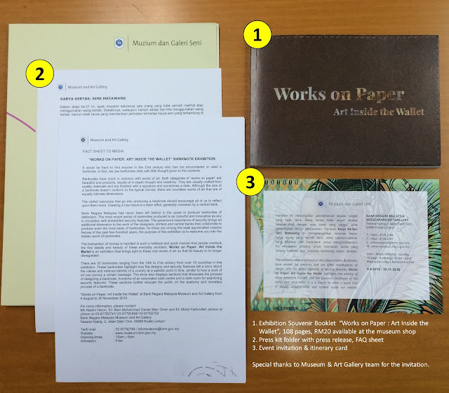 Fig 2 : Invitation card, press kit and souvenir booklet