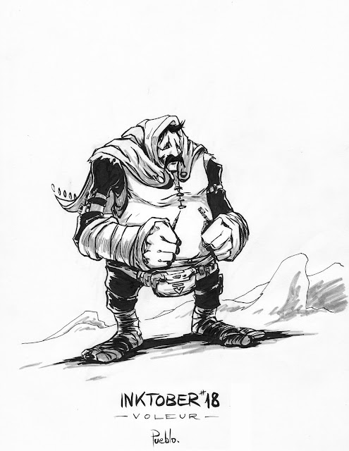 inktober fabrique character bd by lePueblo Voleur thief