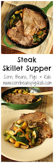 Steak Skillet Supper - great for date night or a quick weeknight meal #foodbloggers4tx