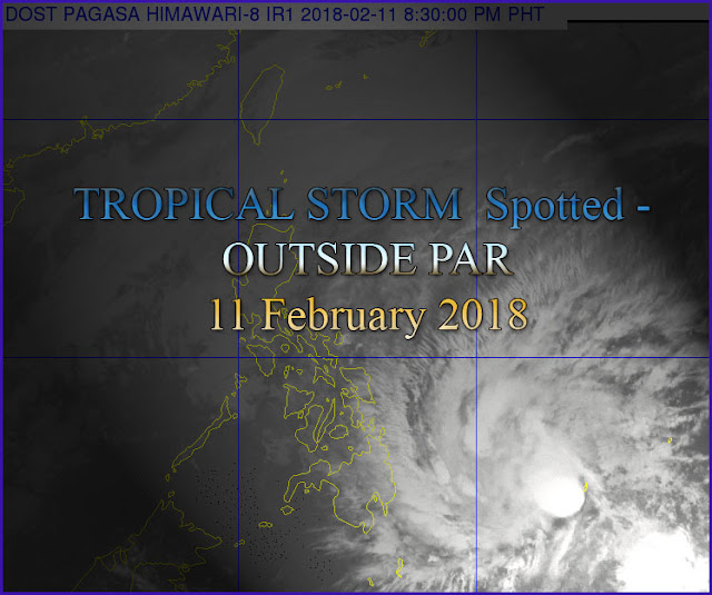 PAGASA: Image satellite as of 8:30 PM, Sunday 11 February 2018 via HIMAWARI-8 Satellite. Source Credit: PAGASA