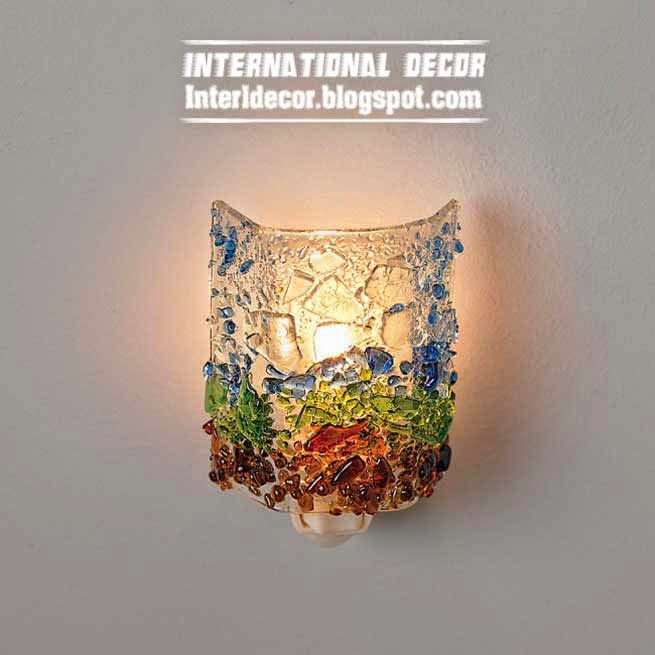 Make unusual glass lamps from recycled glass