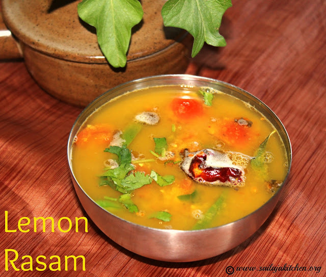 images of Lemon Rasam Recipe / Elumichai Rasam Recipe / South Indian Lemon Soup