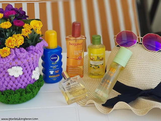 plaj çantasında olması gereken bakım ürünleri