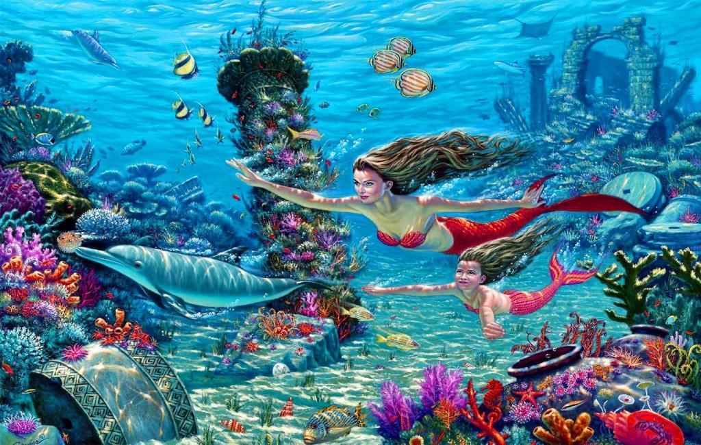 BANCO DE IMÁGENES: 40 Imágenes De Sirenas En El Mar
