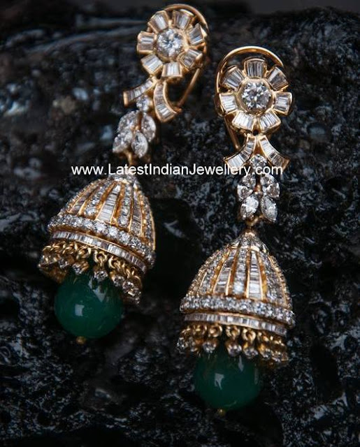 Jadau Diamond Jhumka Earrings