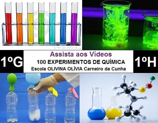 Vários experimentos de Química