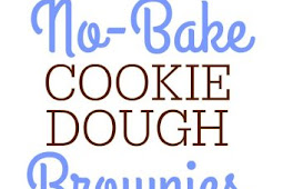 No Bake Cookie Dough Brownies