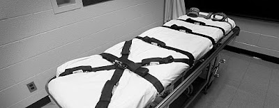 Execution gurney in Tennessee's death chamber