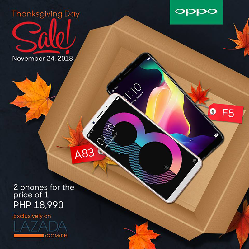 Sale Alert: Get both the OPPO F5 and OPPO A83 for PHP 18,990!