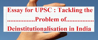 Problem of Deinstitutionalization in India