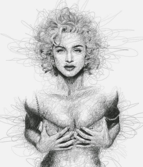 09-Madonna-1-Malaysian-Artist-Vince-Low-Scribble-Dyslexia-www-designstack-co
