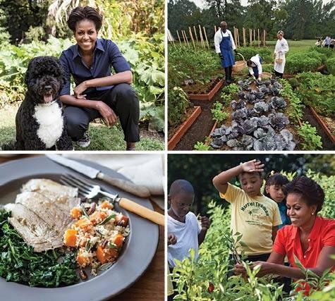 Michelle Obama incentiva mais novos à prática da jardinagem