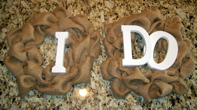Burlap Ribbon Wedding Wreaths