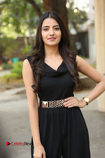 Telugu Actress Rukhsar Mir Stills in Black Long Dress at Aakatayi Movie First Look Launch  0100.JPG
