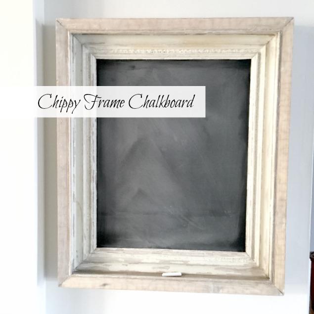 Chippy Frame Chalkboard www.homeroad.net