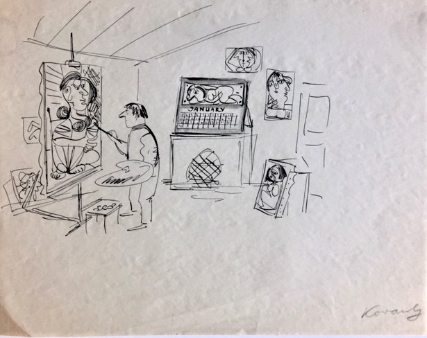 Line Drawing Nyc : Mike lynch cartoons: nyc: anatol kovarsky new yorker gallery show at