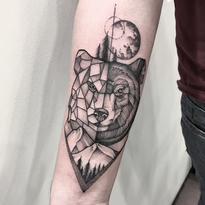 geometric bear tattoo (2)
