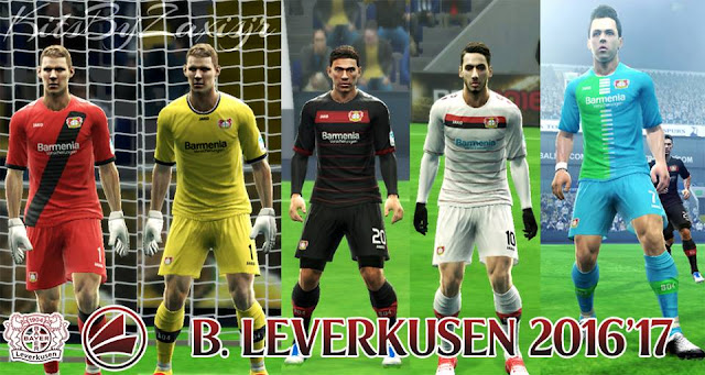 PES 2013  Leverkusen 2016'17 Kits by Zaxis Jr