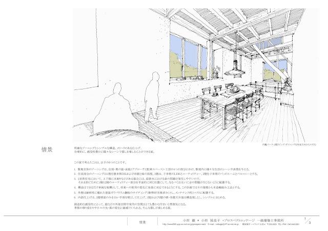 陶芸工房を併設した三階建ての二世帯住宅 内観イメージ