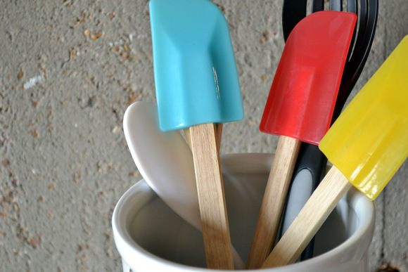 Colorful spoons and spatulas