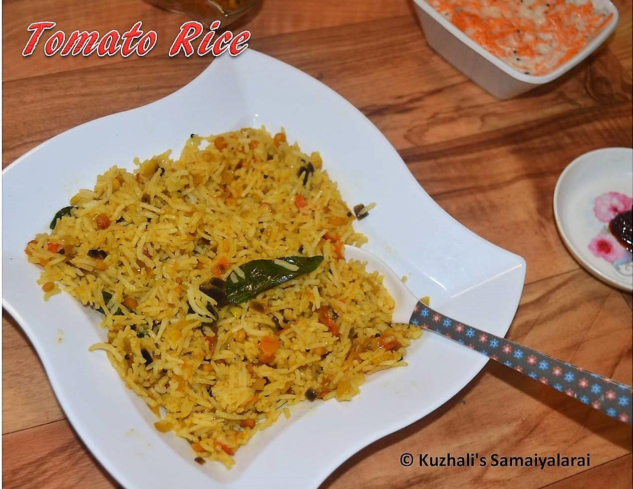 Kuzhalis samaiyalarai tomato rice south indian tomato rice tomato rice south indian tomato ricethakkali satham recipe variety rice recipes forumfinder Gallery