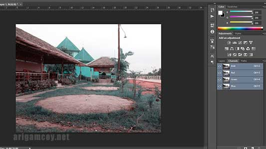Edit foto flase color di photoshop
