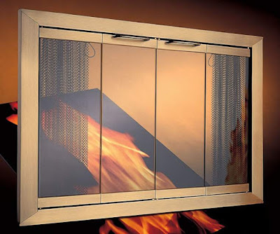 Glass Fireplace Screens with Entryways