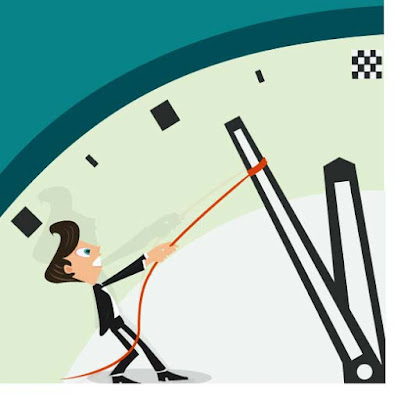 a cartoon character is trying to hold back the clock hand with a lasso